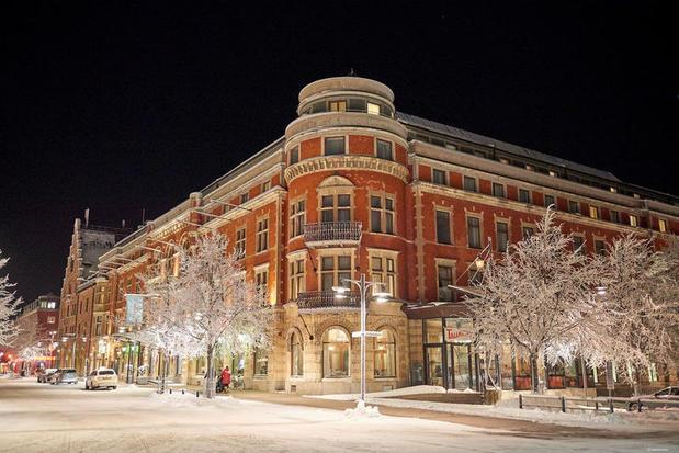 Elite Stadtshotellet in winter in the city of Lulea in Swedish Lapland