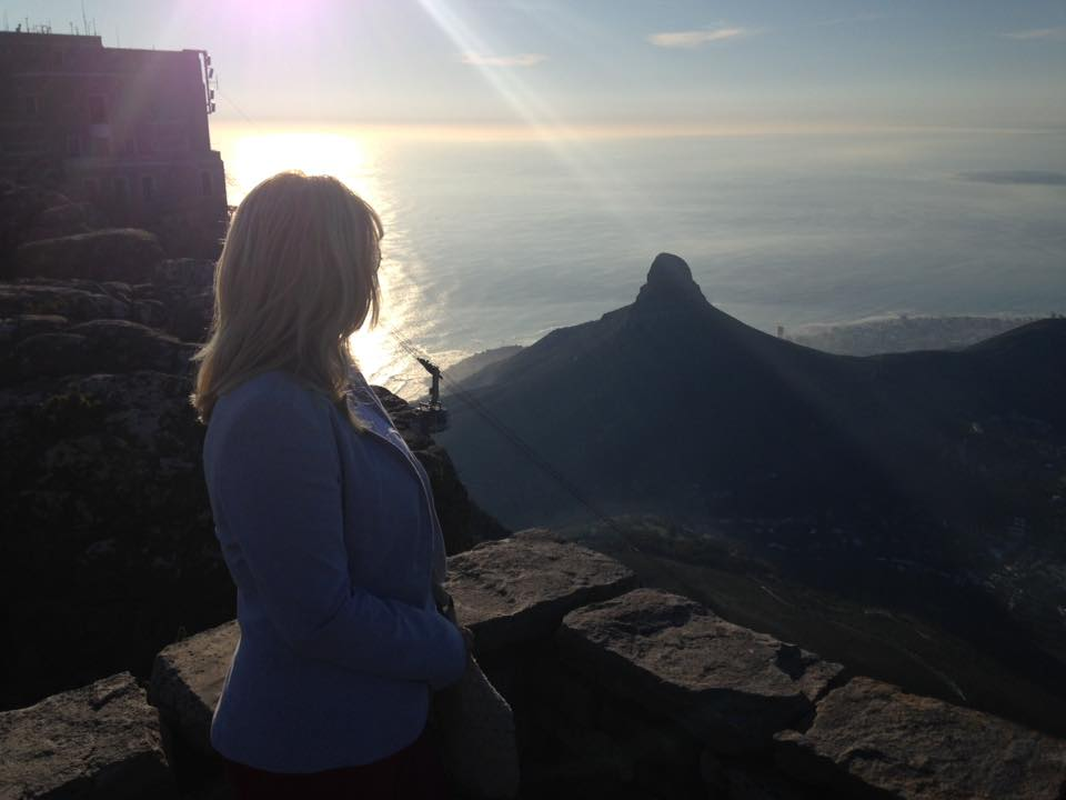 Emma Sanger-Horwell on Table Mountain, South Africa