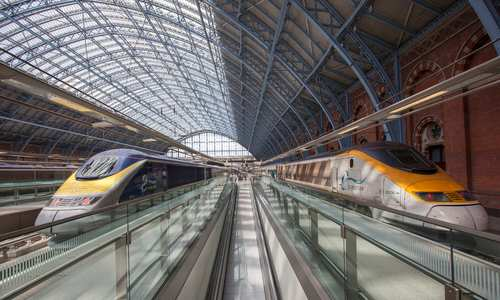 Eurostar trains, Kings Cross St. Pancras International, London