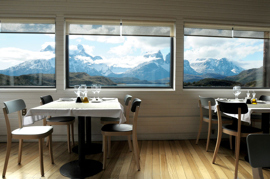 View from the restaurant at explora Patagonia
