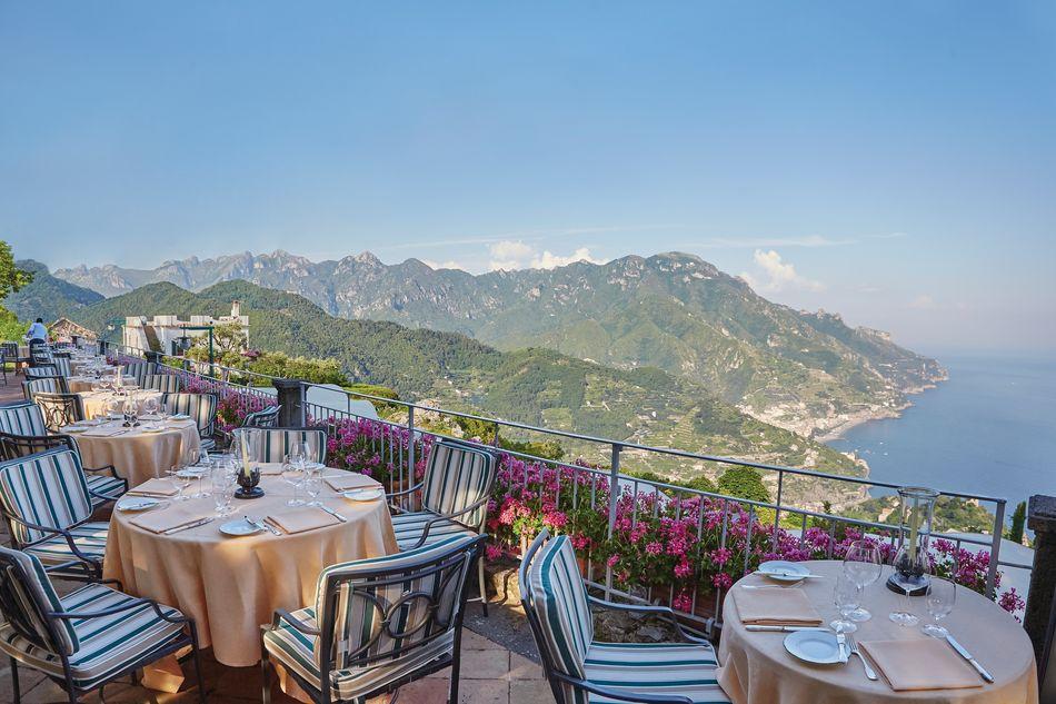 Dining terrace, Belmond Hotel Caruso