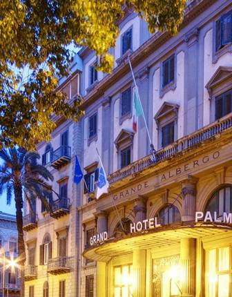 Exterior, Grand Hotel et Des Palmes, Palermo, Sicily, Italy
