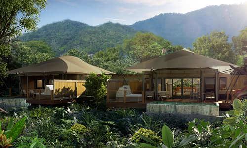 Exterior, Nayara Tented Camp, Arenal Volcano National Park, Costa Rica (rendering)