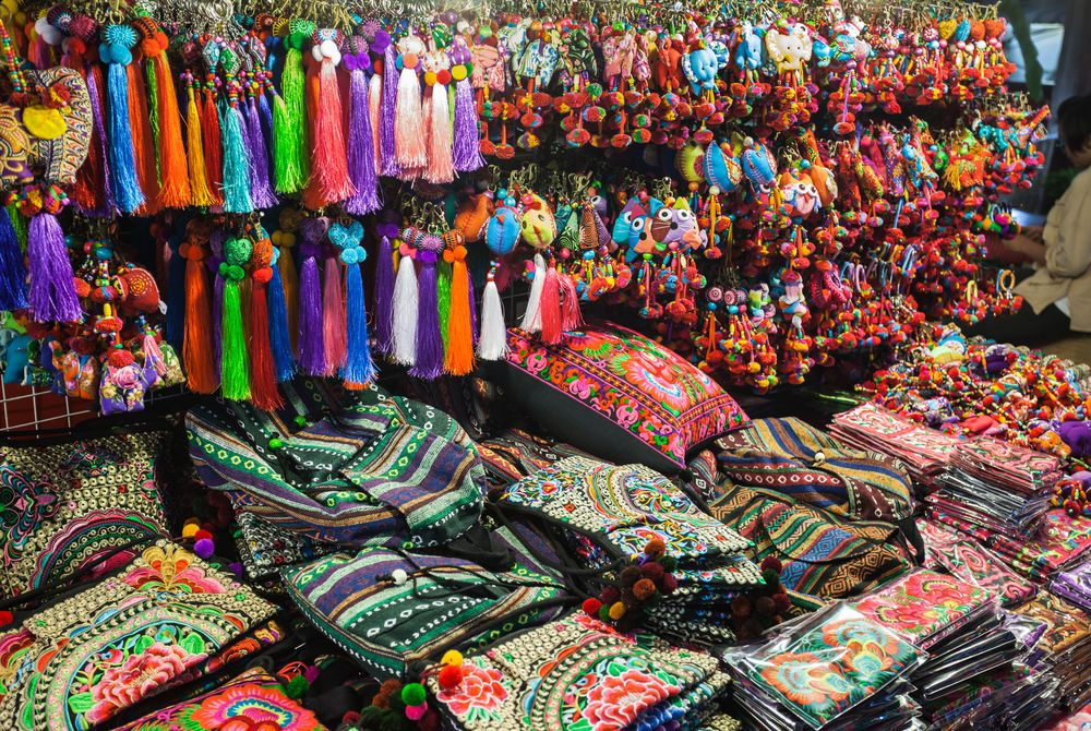 Fabric Market in Chiang Mai, Thailand