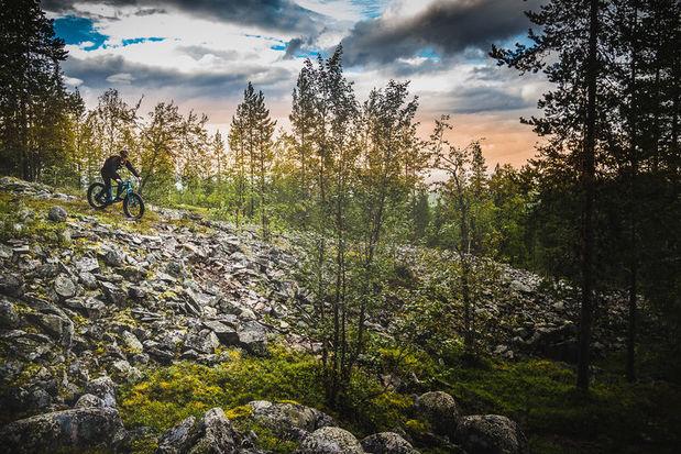 Mountain biking near Levi