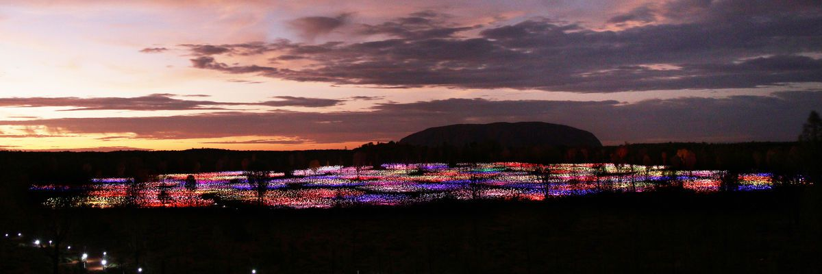 Field of Light, Uluru, Burce Munro 2016 (Credit Mark Pickthall)