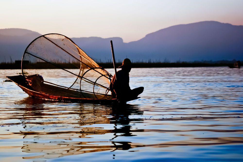 Fisherman, Inle Lake, Burma, Asia