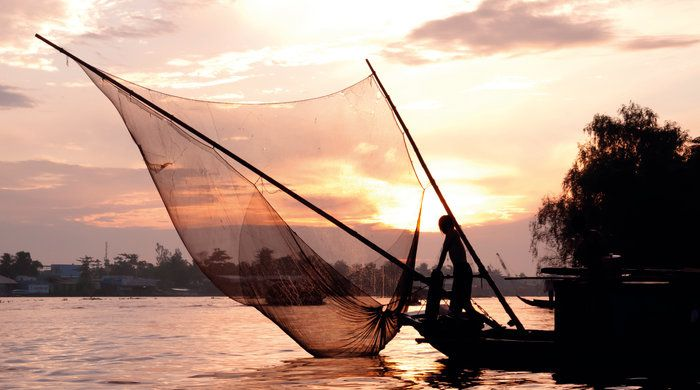 Fishing Boat, Mekong River, Vietnam