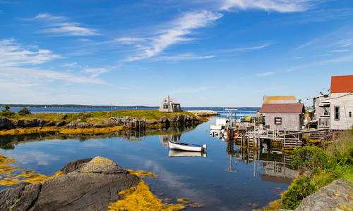 Fishing village, Nova Scotia