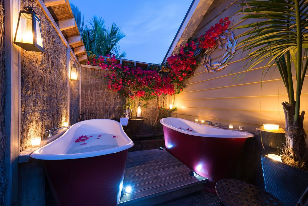 Flagstaff Lodge outdoor baths, New Zealand