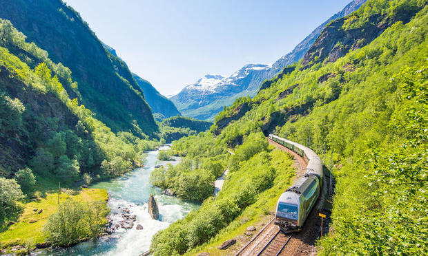 The Flam Railway between Bergen and Balestrand