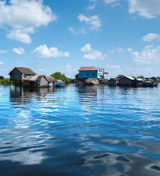 Floating Houses, Tonlé Sap, Cambodia