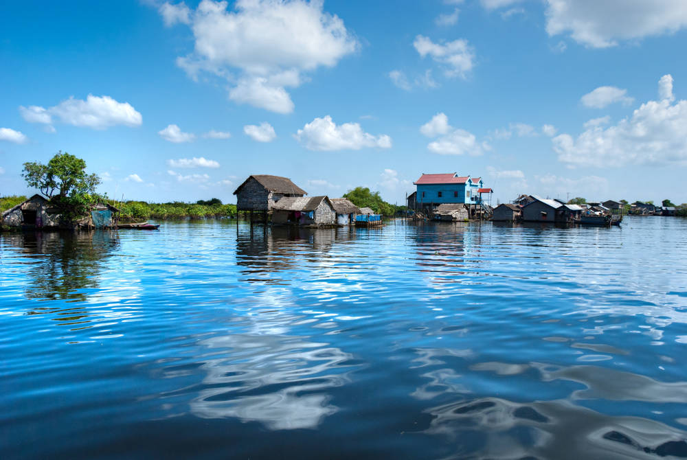 Floating Houses, The Tonlé Sap, Cambodia