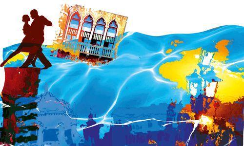 Floating in Venice (Illustration by Luke Walwyn)