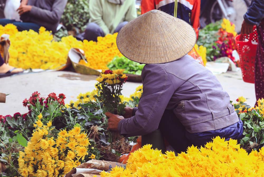 Flower seller in Ho Chi Minh City