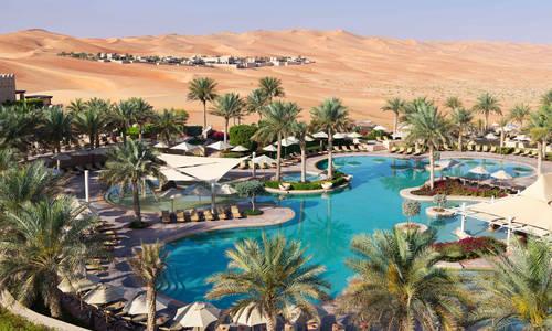 Free form pool, Anantara Qasr Al Sarab
