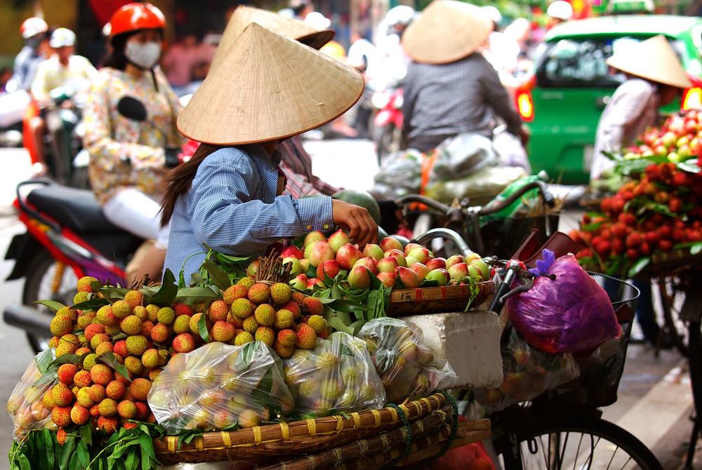 Fruit seller in Ho Chi Minh City