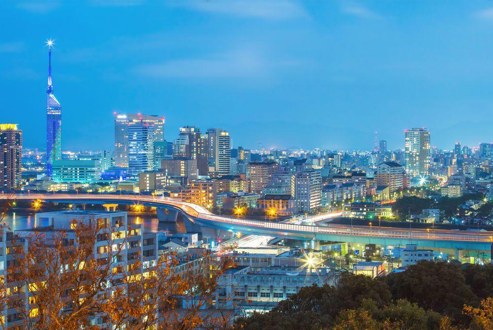 Fukuoka cityscape, Japan