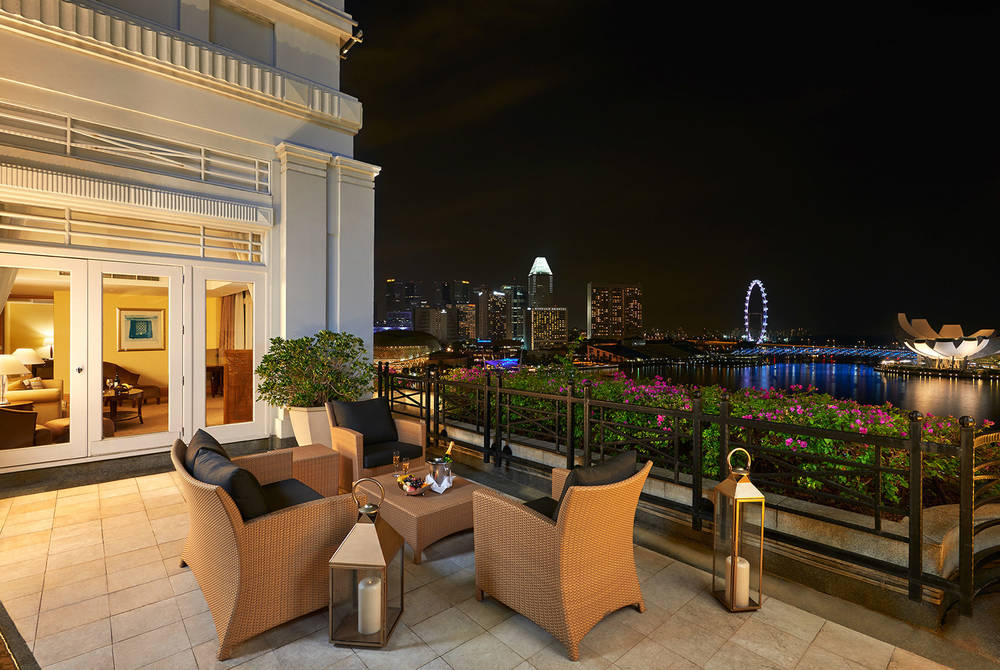 Balcony, Fullerton Suite, Fullerton Hotel, Singapore