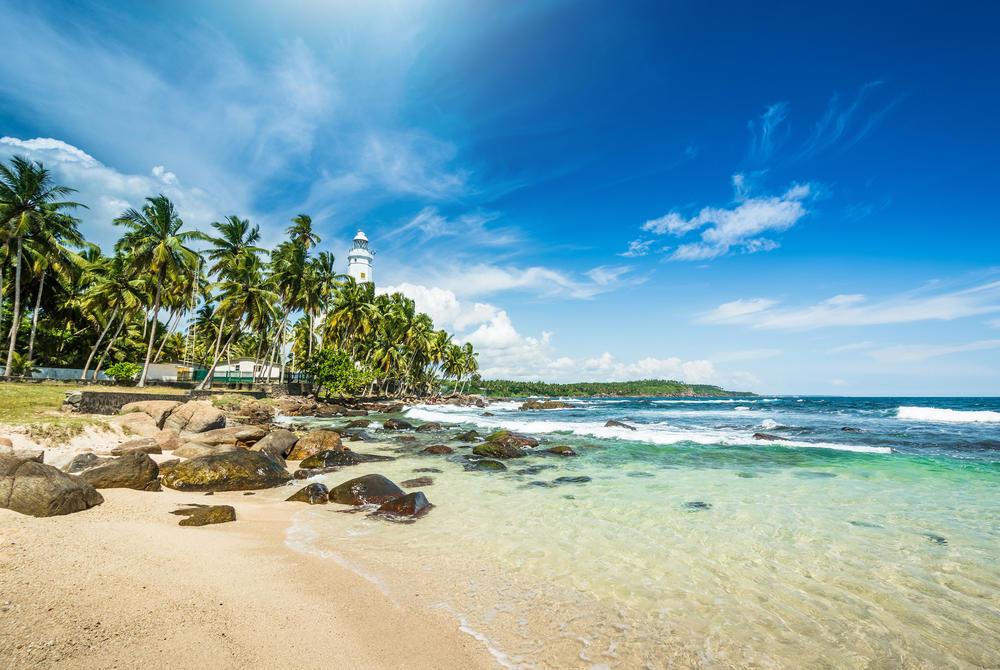beach and ocean in Sri Lanka