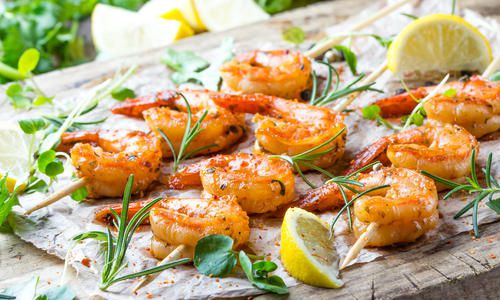Gambas a la plancha – grilled prawns
