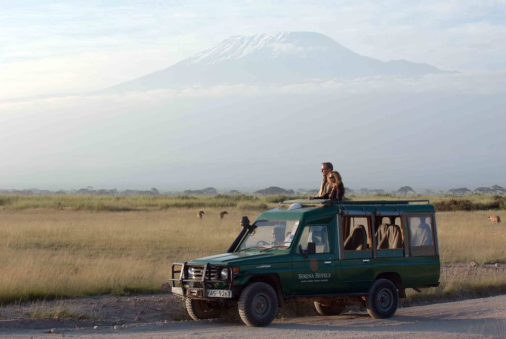 Game drive, Amboseli Serena Safari Lodge