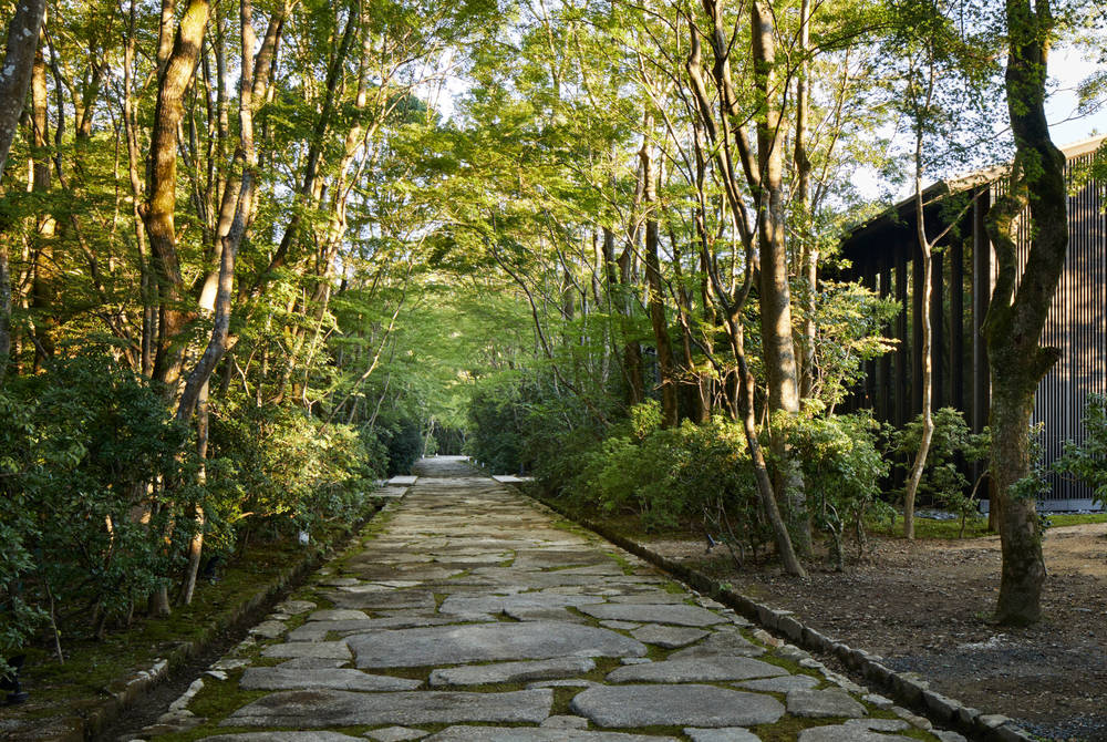 Garden walkways at Aman Kyoto