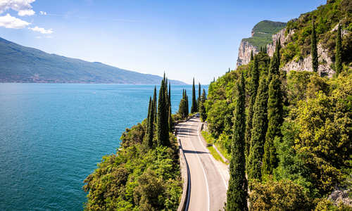 Gardesana Occidentale road near Tremosine, Lake Garda