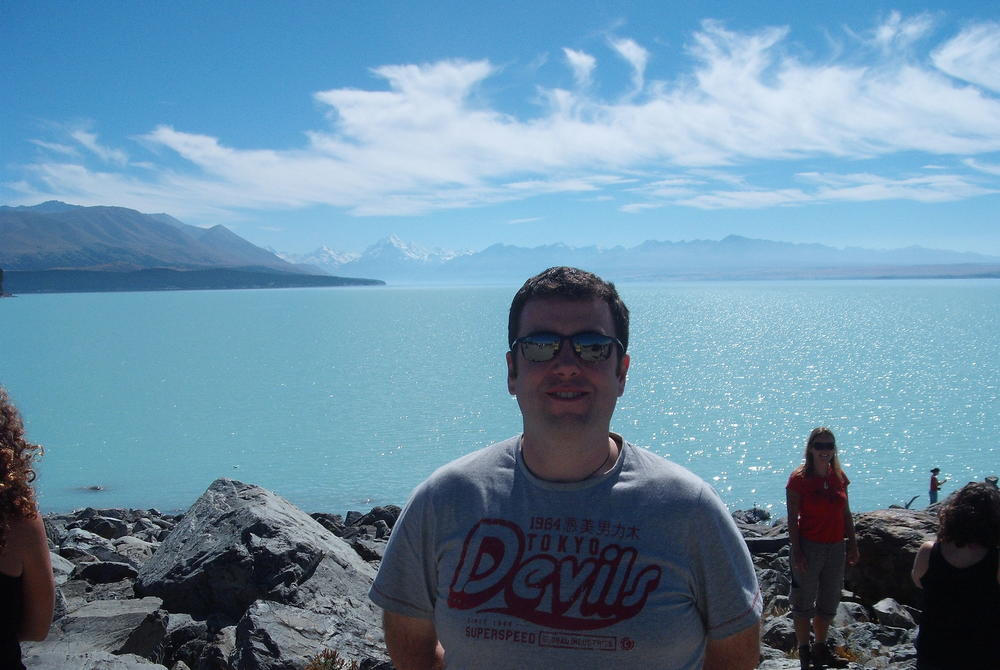 Gary at Lake Tekapo – New Zealand