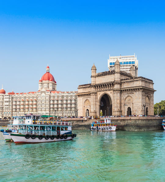 Gateway of India and Taj Mahal Palace