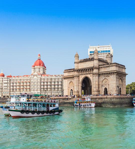 Gateway of India and Taj Mahal Palace