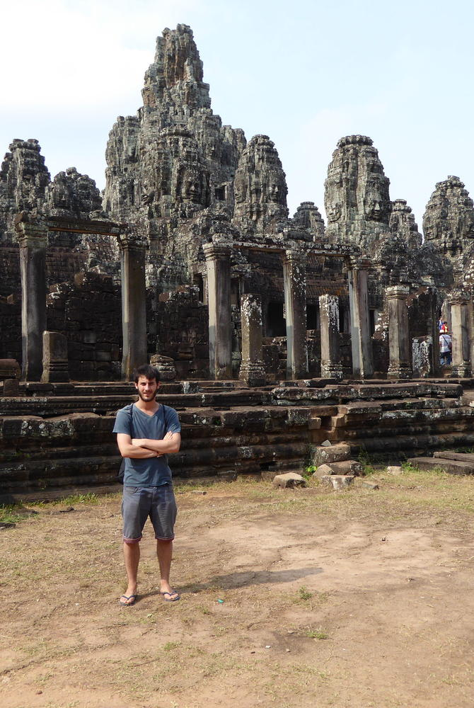 George Clissold at Angkor Temples, Cambodia