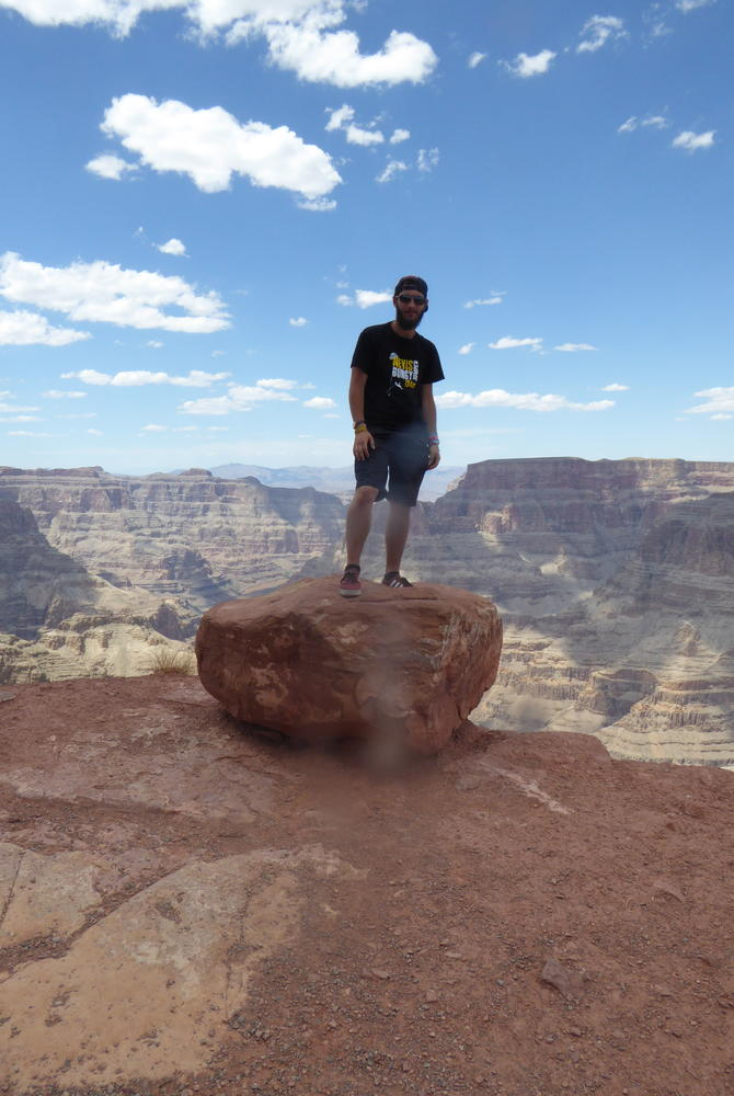 George Clissold at the Grand Canyon