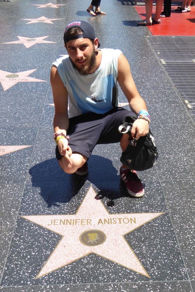 George Clissold at the Hollywood Walk of Fame