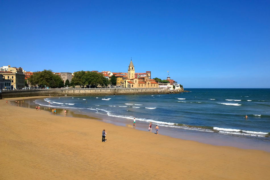 A sandy beach near Gijon, Spain
