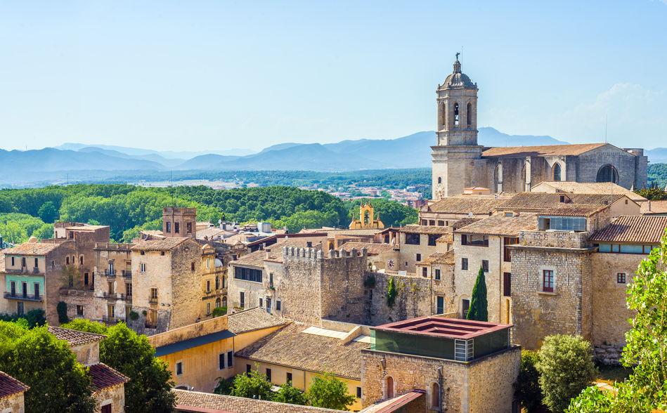 A hilltop town, Girona, Spain