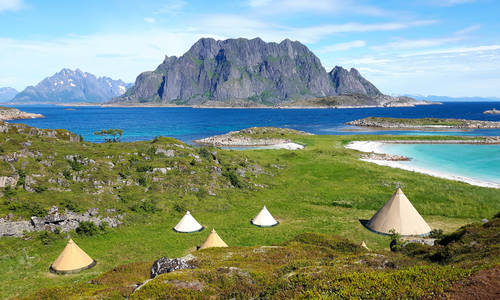 Lofoten Islands Beach Glamping Break