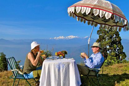 Glenburn Tea with a Private View of Mt Kanchenjunga, Glenburn Tea Estate