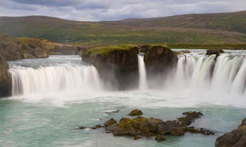 Godafoss Waterfall near Akureyri, Iceland