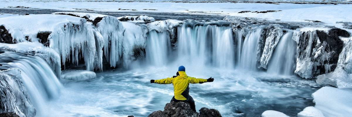 Godafoss in winter – Iceland