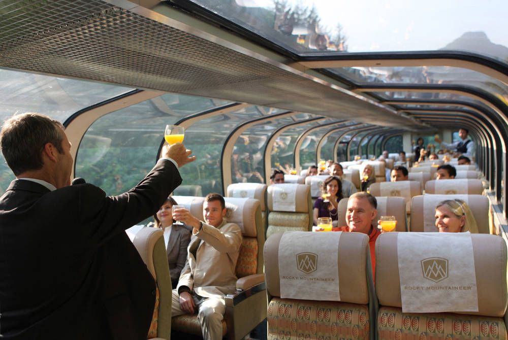 Gold Leaf coach, Rocky Mountaineer