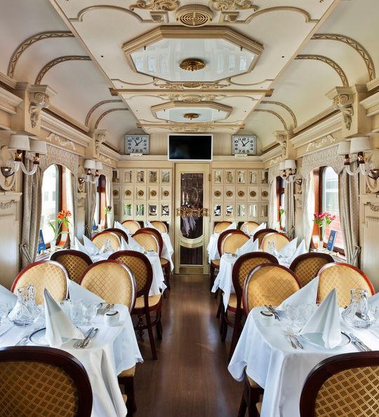 Restaurant, Golden Eagle Trans-Siberian Express