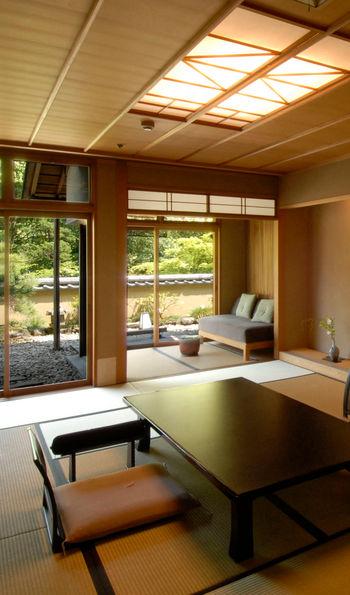 In-suite dining area, Gora Kadan, Hakone