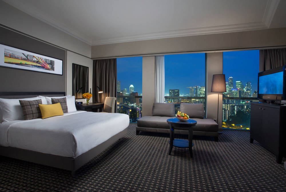 Grand Copthorne Waterfront, Club Deluxe Bayview Room Night View