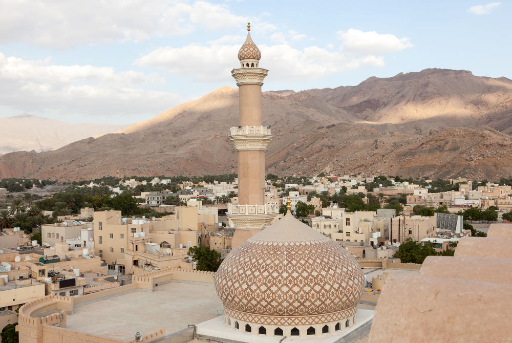 Grand Mosque and City of Nizwa and mountains