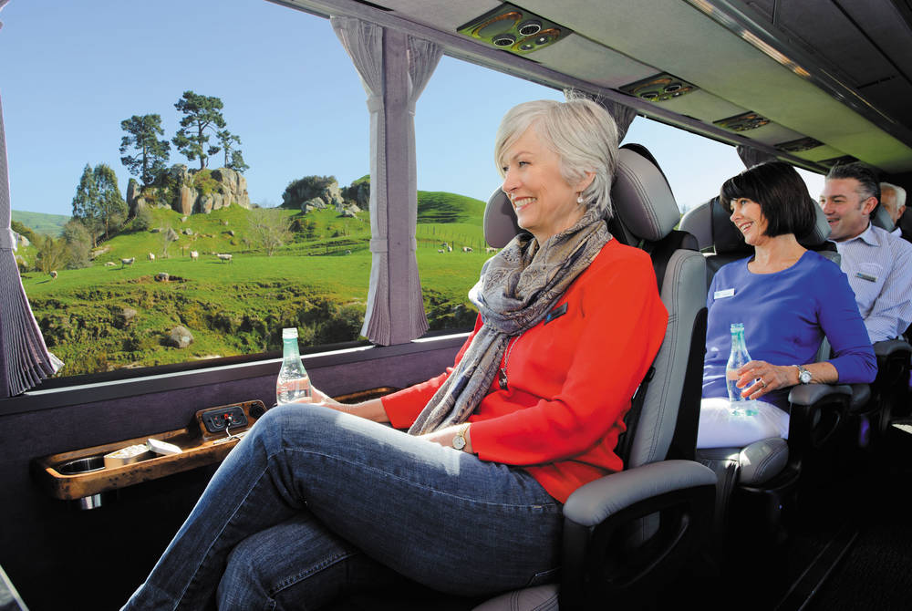 Grand Pacific Tours coach, New Zealand