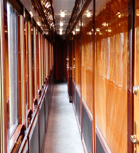 Looking down the grand suites carriage no. 3425.