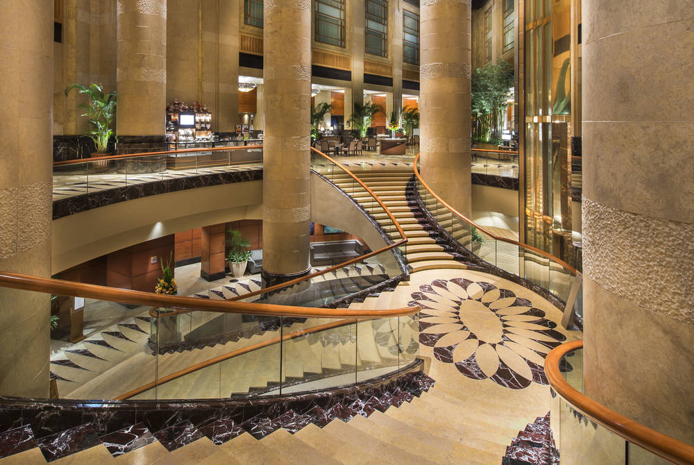 Grand staircase, Fullerton Hotel, Singapore