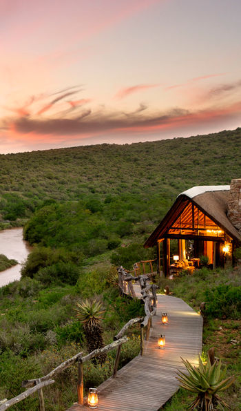 Great Fish River lodge by night