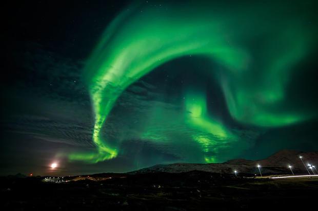 Northern Lights near Nuuk, Greenland